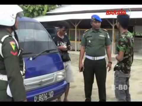 DENPOM LEBAK RAZIA ATRIBUT TNI