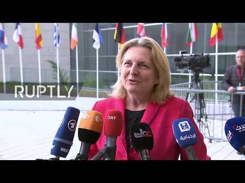 Live: EU Foreign Affairs Council meets on Iran sanctions: arrivals