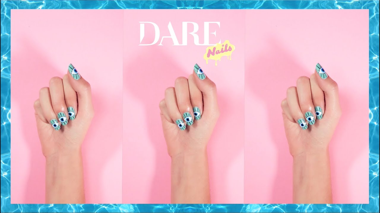 DARE How To - Evil eye nails - YouTube