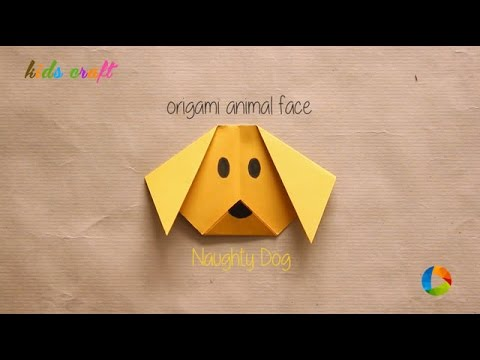 DIY : Origami Animal Faces - Dog   Art All The Way