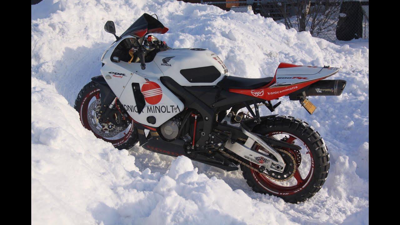 All Weather Tires >> CBR Winter Riding- ALASKA - YouTube