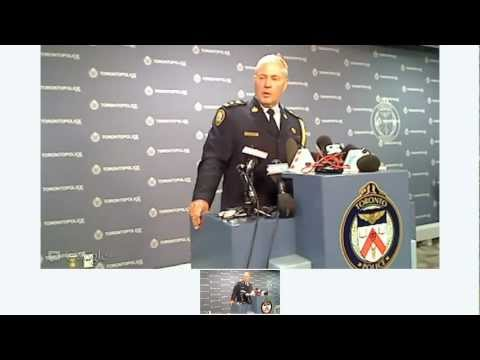 #DanzigShooting Toronto Police Press Conference | Chief William Blair | 11am Tues July 17, 2012