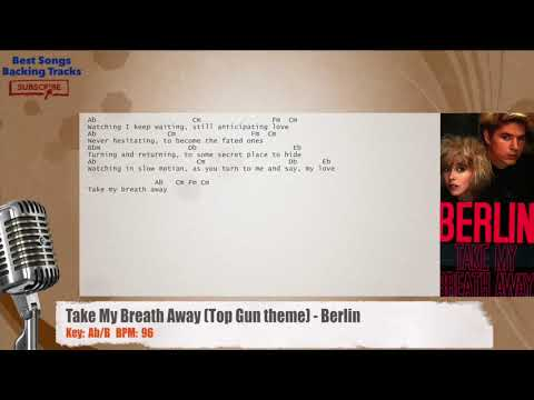 Take My Breath Away (Top Gun theme) - Berlin Vocal Backing Track with chords and lyrics
