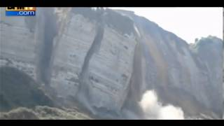 Cliff Collapse Caught on Video