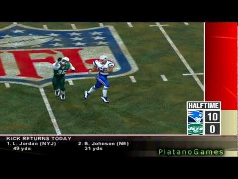 NFL 2012 TNF Week 12 - New England Patriots (7-3) vs New York Jets (4-6) - 2nd Half - NFL 2k5 - HD