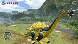LEGO Jurassic World - Customize   Create Dinosaur Brachiosaurus   Free Roam Gameplay [HD]