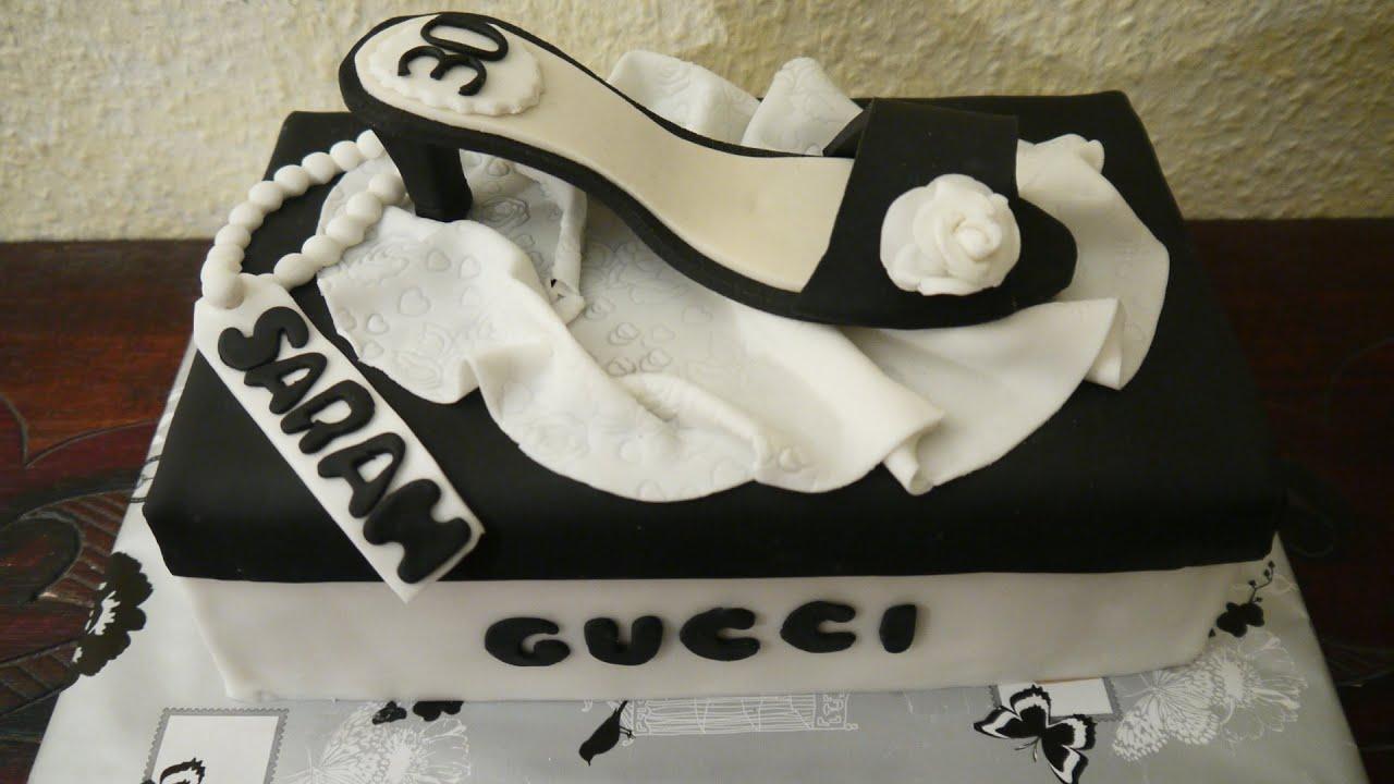Anleitung Schuh - Torte MOTIVTORTE Shoe High Heel GUMPASTE cake ...