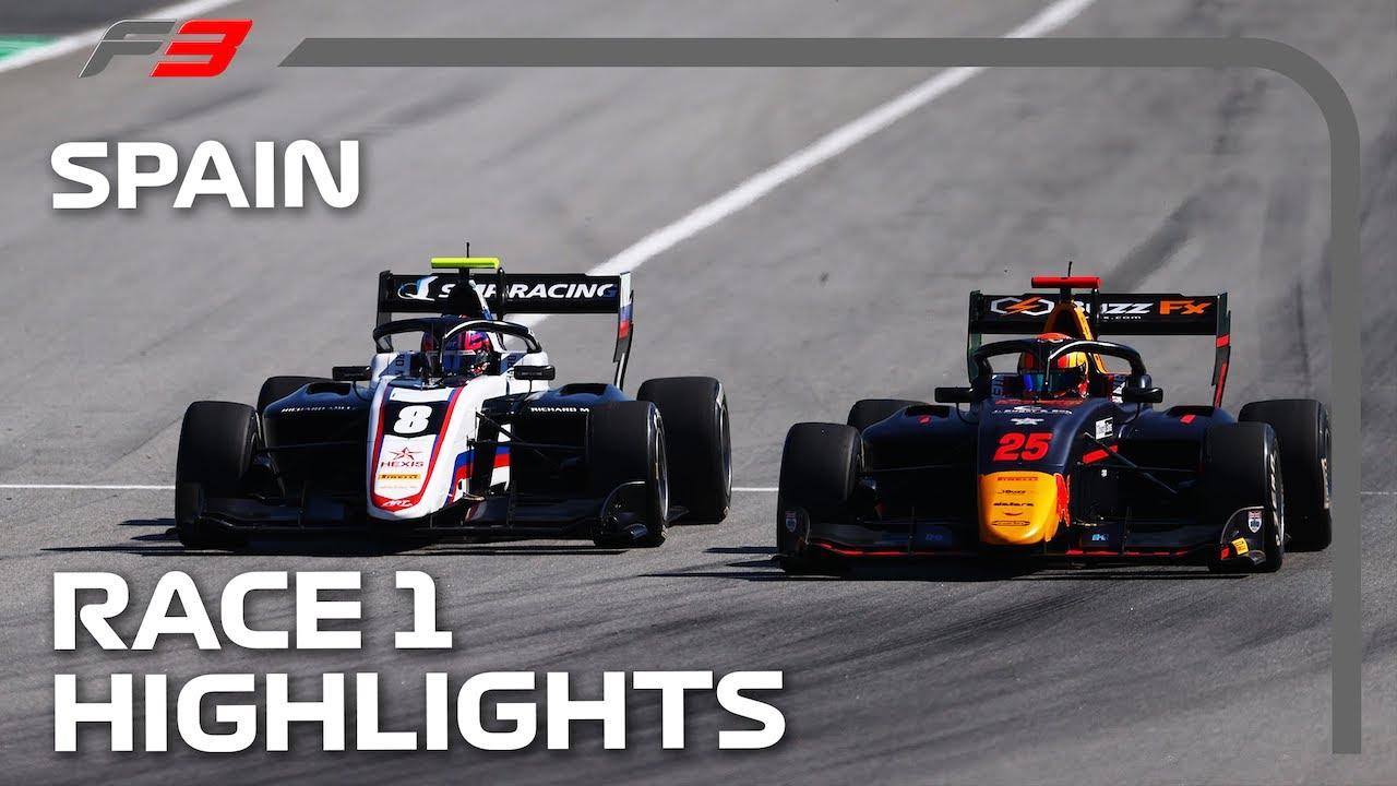 F3 Race 1 Highlights | 2021 Spanish Grand Prix