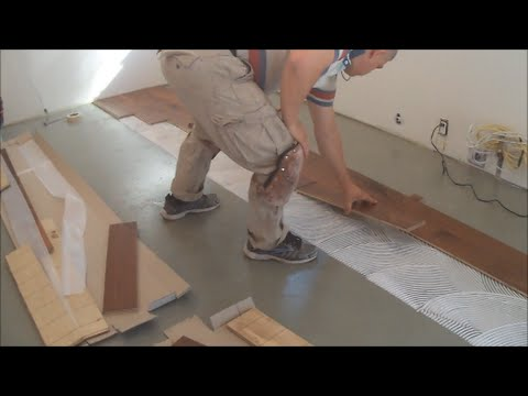 Hardwood Protection hardwood floor installation on a moisture vapor protection/mvp diy