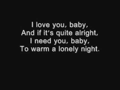 I love you baby - Frank Sinatra lyrics.wmv - Video