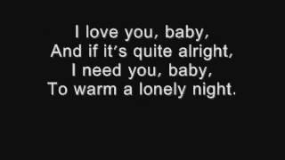 Gambar cover I love you baby - Frank Sinatra lyrics.wmv - Video
