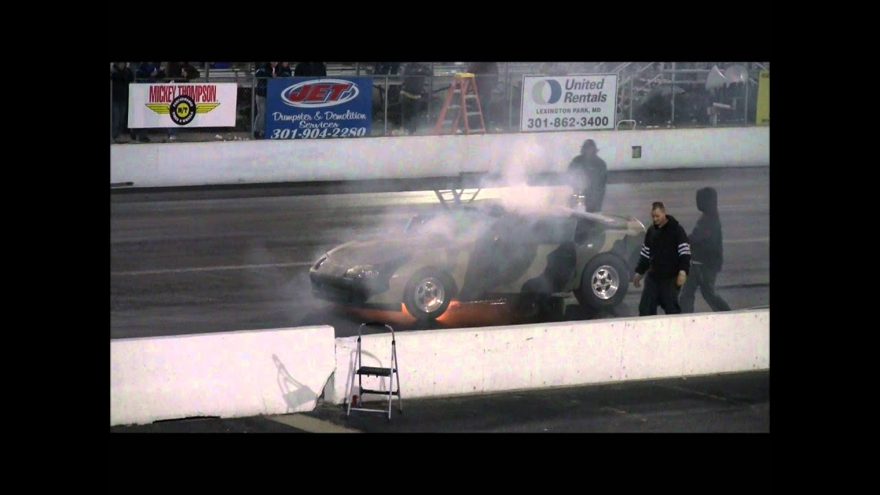 Toyota Supra Drag Race, Catches Fire On The Launch! MIR 2011 World Cup