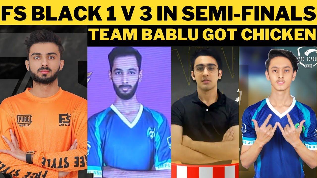 FsBlack 1 v 3   Team Bablu Got Chicken dinner   Hive Esports  @MAXD ESPORTS   Esports Pakistan