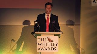 Edward Whitley's speech at the Whitley Awards 2017