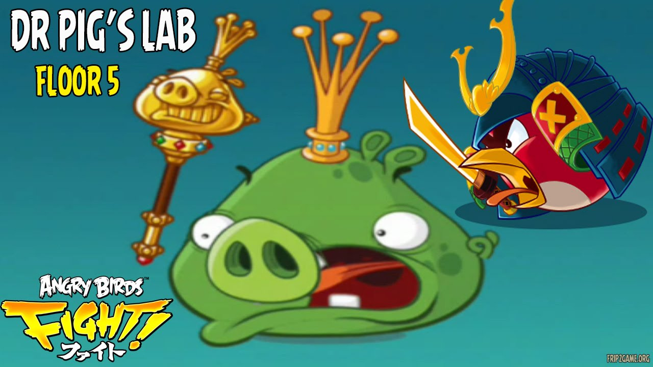 Angry Birds Fight Dr Pig's Lab Floor 5