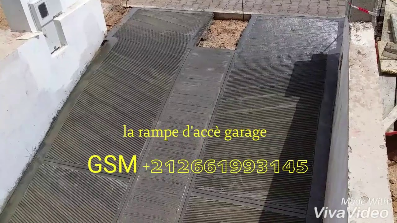 D scente antiderapante de garage en beton decoratif youtube - Descente de garage en beton desactive ...