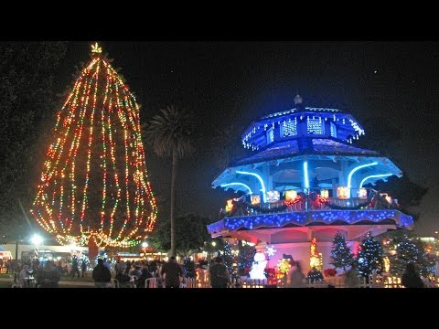 Best Christmas Lights on a Bandstand, Oxnard, California