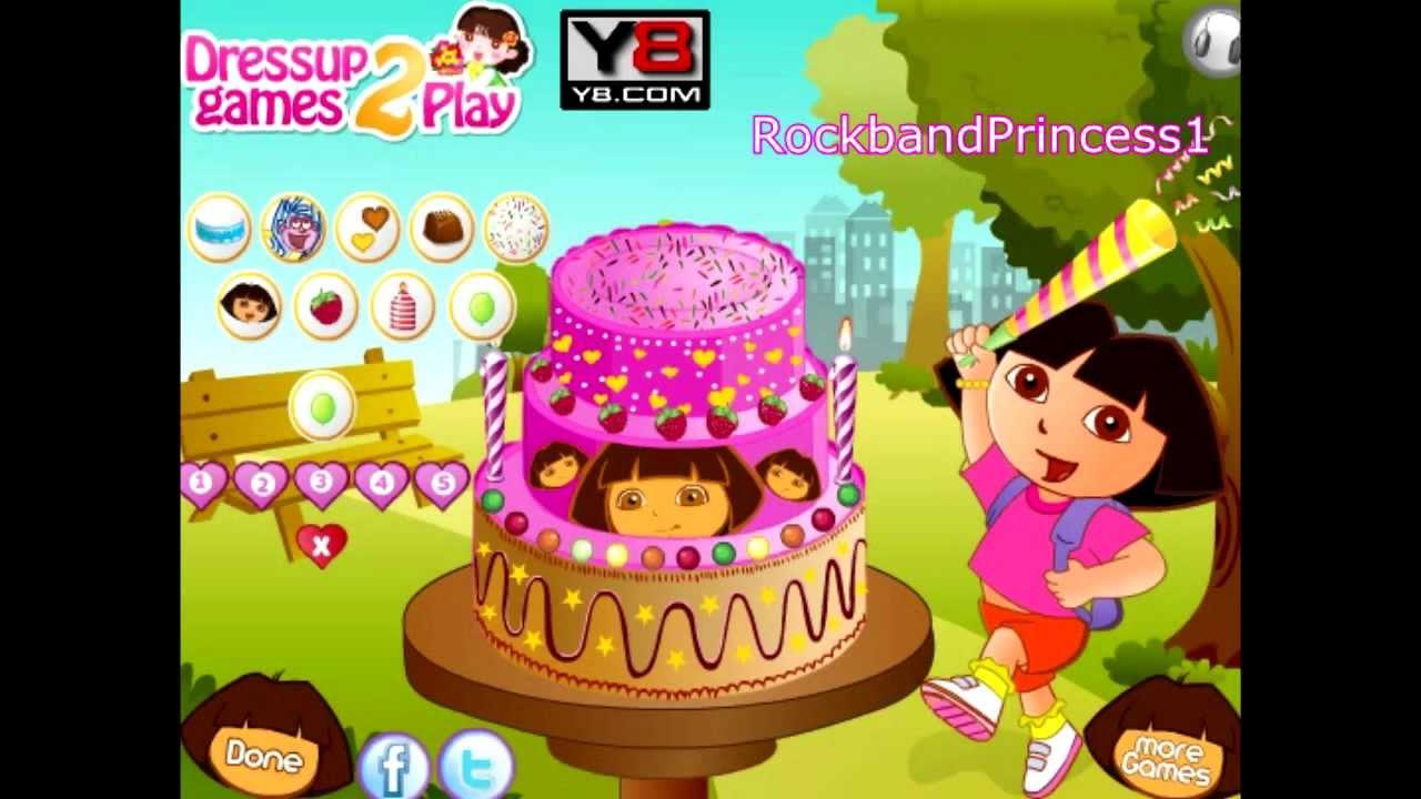 Dora The Explorer Cake Decorations Game Dora The Explorer Cake Decorating Games Online Youtube