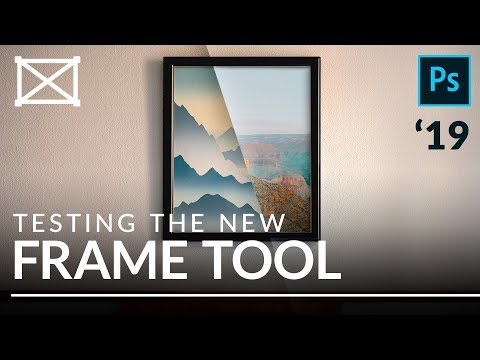 Testing The NEW Frame Tool (vs Clipping Masks) | Photoshop CC 2019