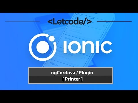 ngCordova / Plugin [ Printer ] 🎓 - YouTube
