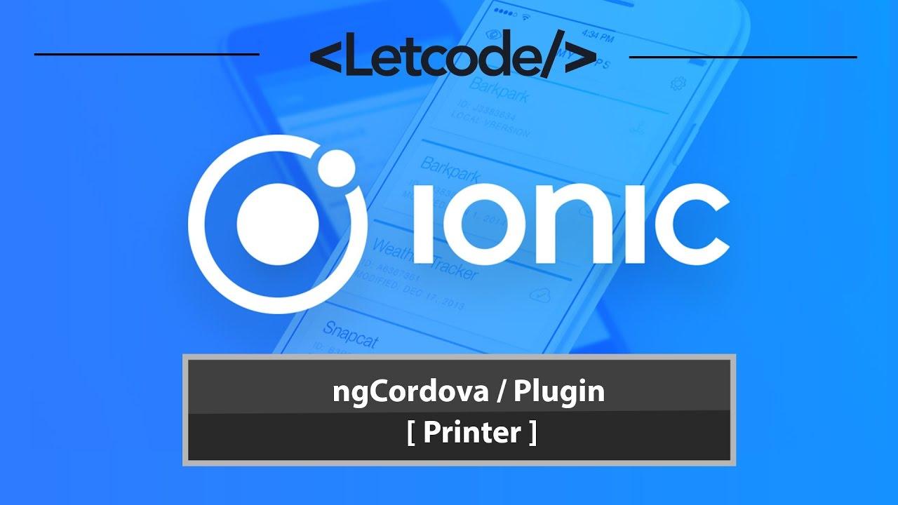 ngCordova / Plugin [ Printer ] 🎓