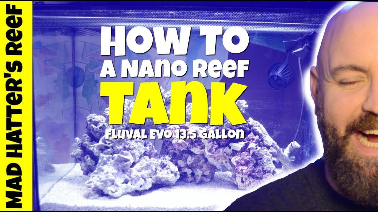 how to setup a nano reef tank fluval evo 13 5 youtube
