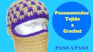 PASAMONTAÑAS INFANTIL TEJIDO A CROCHET PASO A PASO 91f216811fa
