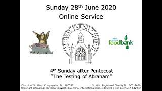 Alloway Parish Church Online Service - Sunday, 28th June 2020