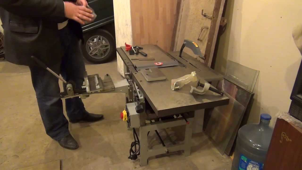 Lift table homemade jointer - YouTube