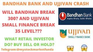 BANDHAN BANK SHARE LATEST NEWS | WILL BANDHAN BANK BREAK 300? UJJIVAN SMALL FINANCE BANK BREAK 35?