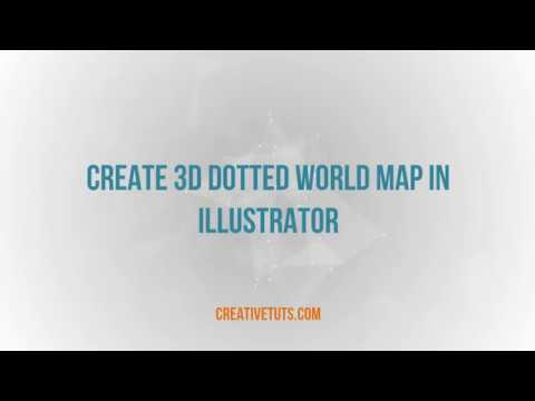 Creating 3D Dotted World Map using Illustrator