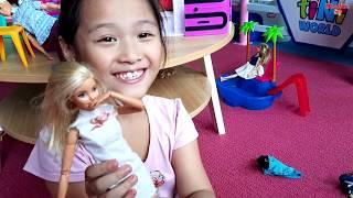 Gia Linh xin mẹ đến khu vui chơi giải trí trẻ em mới TINI WORL