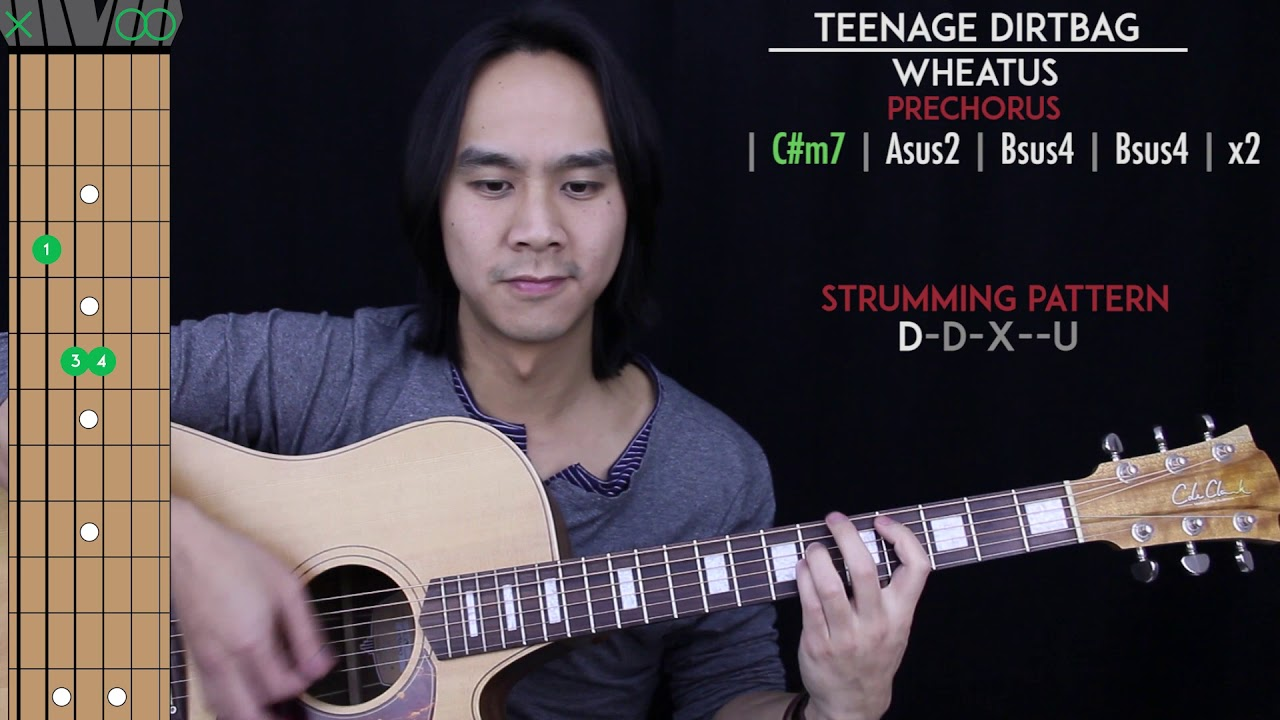 Teenage Dirtbag Guitar Cover Acoustic - Wheatus 🎸 |Tabs ...