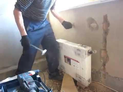 Монтаж радиаторов отопления 1