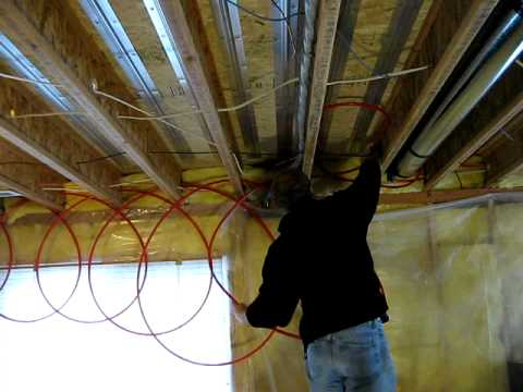 underfloor radiant heating installation  YouTube