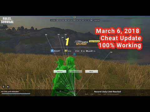 Rules Of Survival Cheat UPDATE (March 6, 2018) 100% Working For PC Gamers