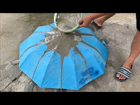 Creative Ideas from Cement and Rain Umbrellas – Fantastic Garden Design from Recyclables