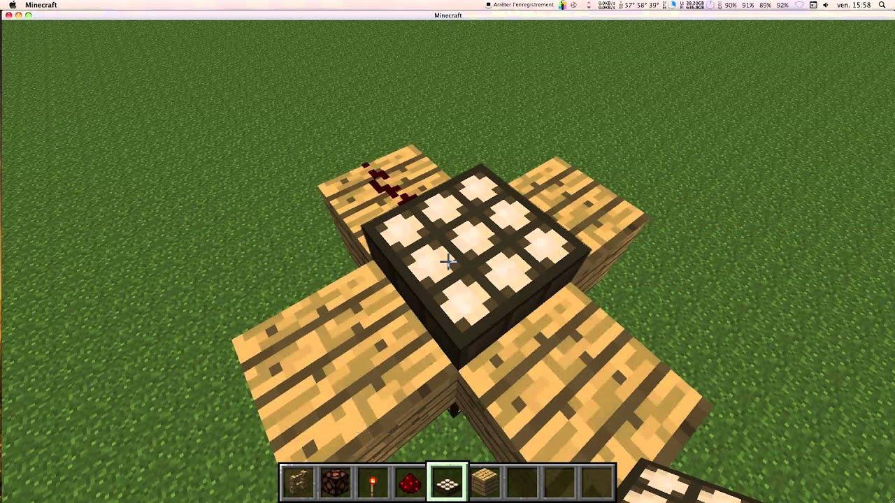 minecraft comment faire un lampadaire auto - Lampadaire Minecraft