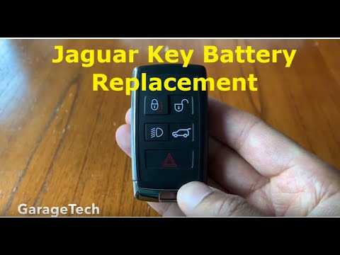 Jaguar Key How to replace the battery