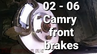02 - 06 toyota camry front brakes