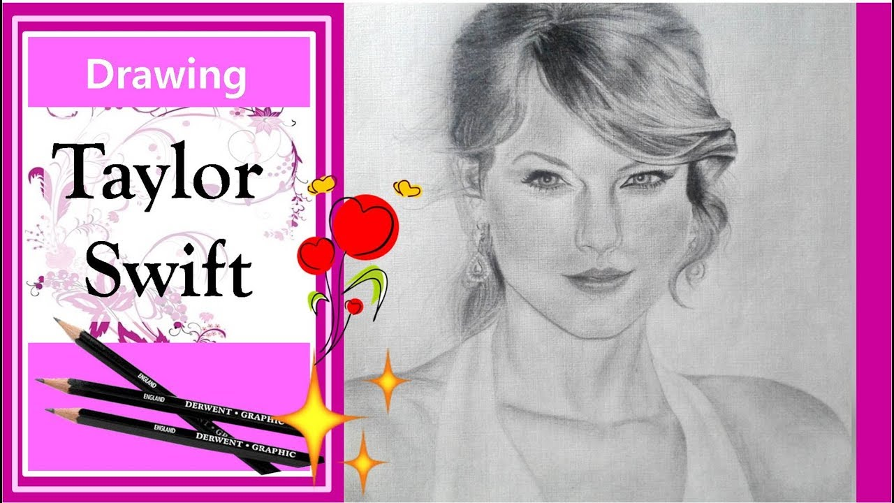 Dibujo De Taylor Swift Con Lápices Drawing Taylor Swift With