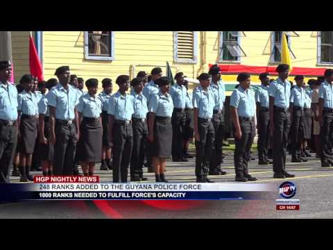 248 RANKS ADDED TO THE GUYANA POLICE FORCE