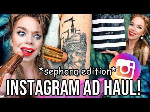 Buying EVERY Instagram AD - Sephora Edition!!