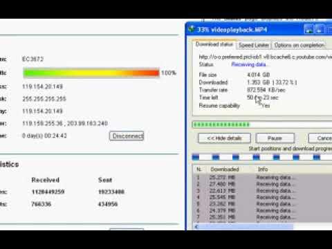 PTCL 3G EVO Wingle Dwonloding Speed test