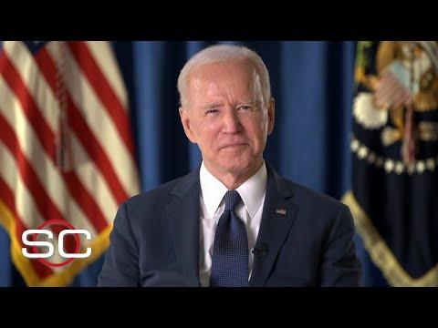 President Joe Biden speaks about fans returning to stadiums, vaccination progress | SportsCenter