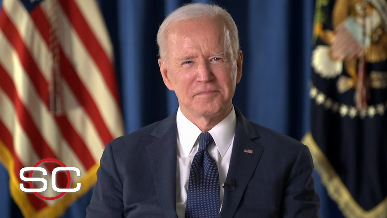 President Joe Biden speaks about fans returning to stadiums, vaccination progress | SportsCenter