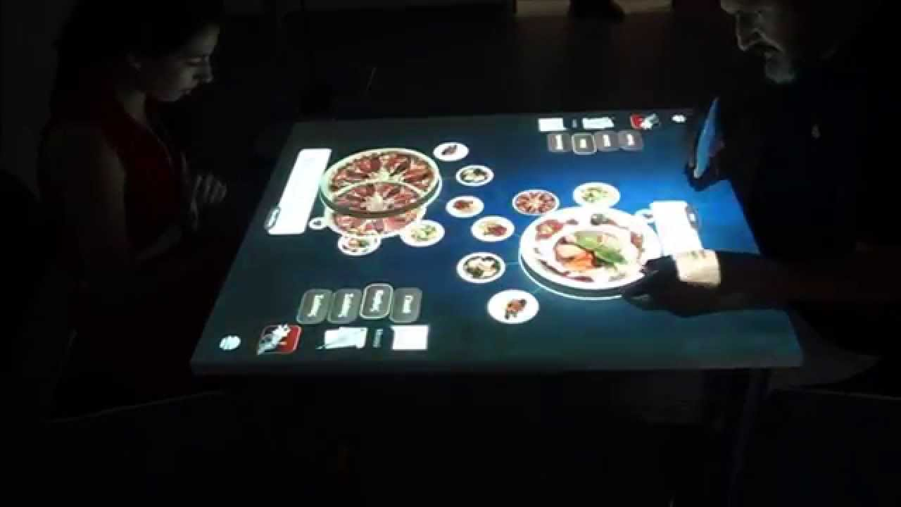 IEat An Interactive Restaurant Table YouTube - Restaurant table games