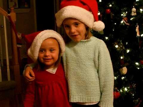 Gretchen and Brigid Sing Rudolph 2009