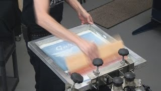 Learn How To Screen Print Tee Shirts: White Plastisol Ink On Black Garments
