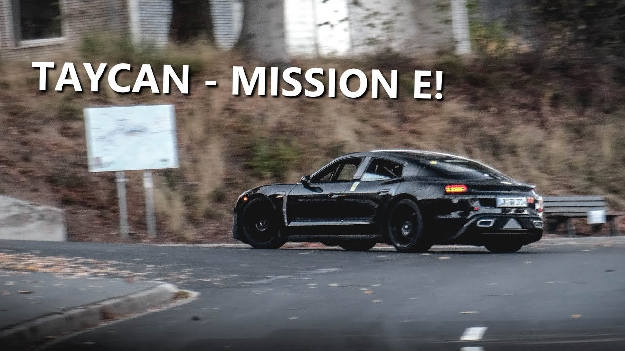 New Porsche Taycan Mission E Testing On The Nurburgring